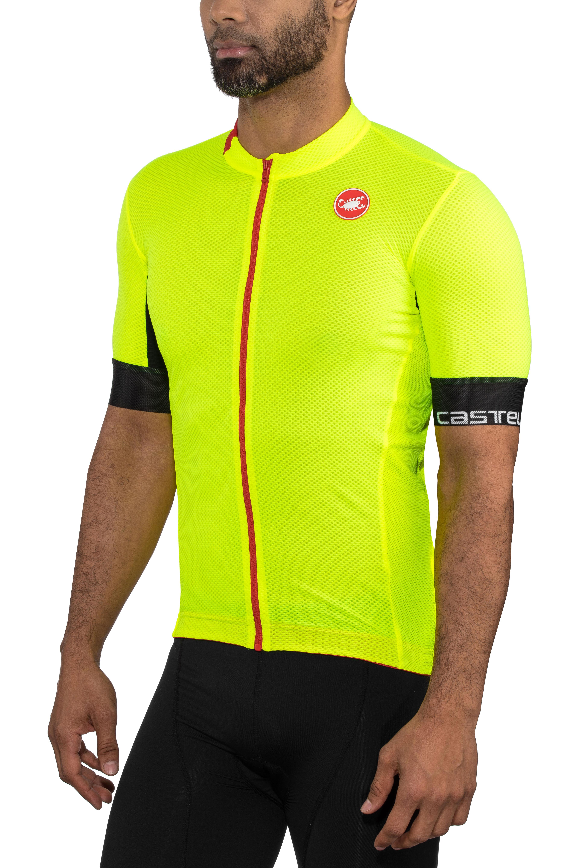 cd96c4ca7320 Castelli Aero Race 4.1 Solid Maglietta jersey con zip frontale Uomo, yellow  fluo